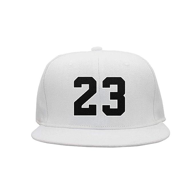 e97c1d9a CapRobot Mens Womens Number #23 Cotton Adjustable Snapback hat at Amazon  Men's Clothing store: