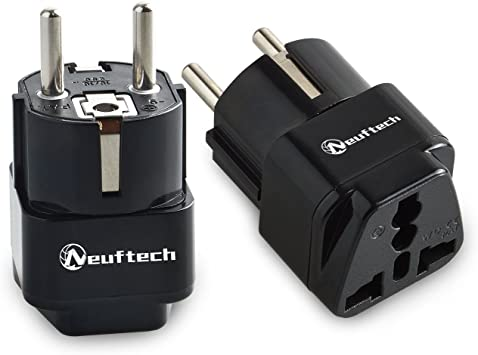 Neuftech 2 X 4.8mm Enchufe Universal Viaje Adaptador para UK, USA ...