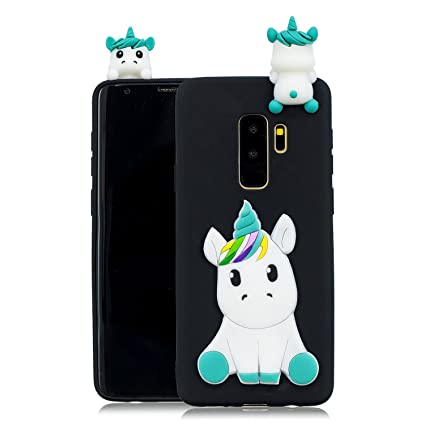 DAMONDY Galaxy S9+ Plus Case, Galaxy S9 Plus Cute Case, 3D Cute Unicorn Cartoon Soft Gel Silicone Design Rubber Skin Thin Protective Cover Phone Case ...