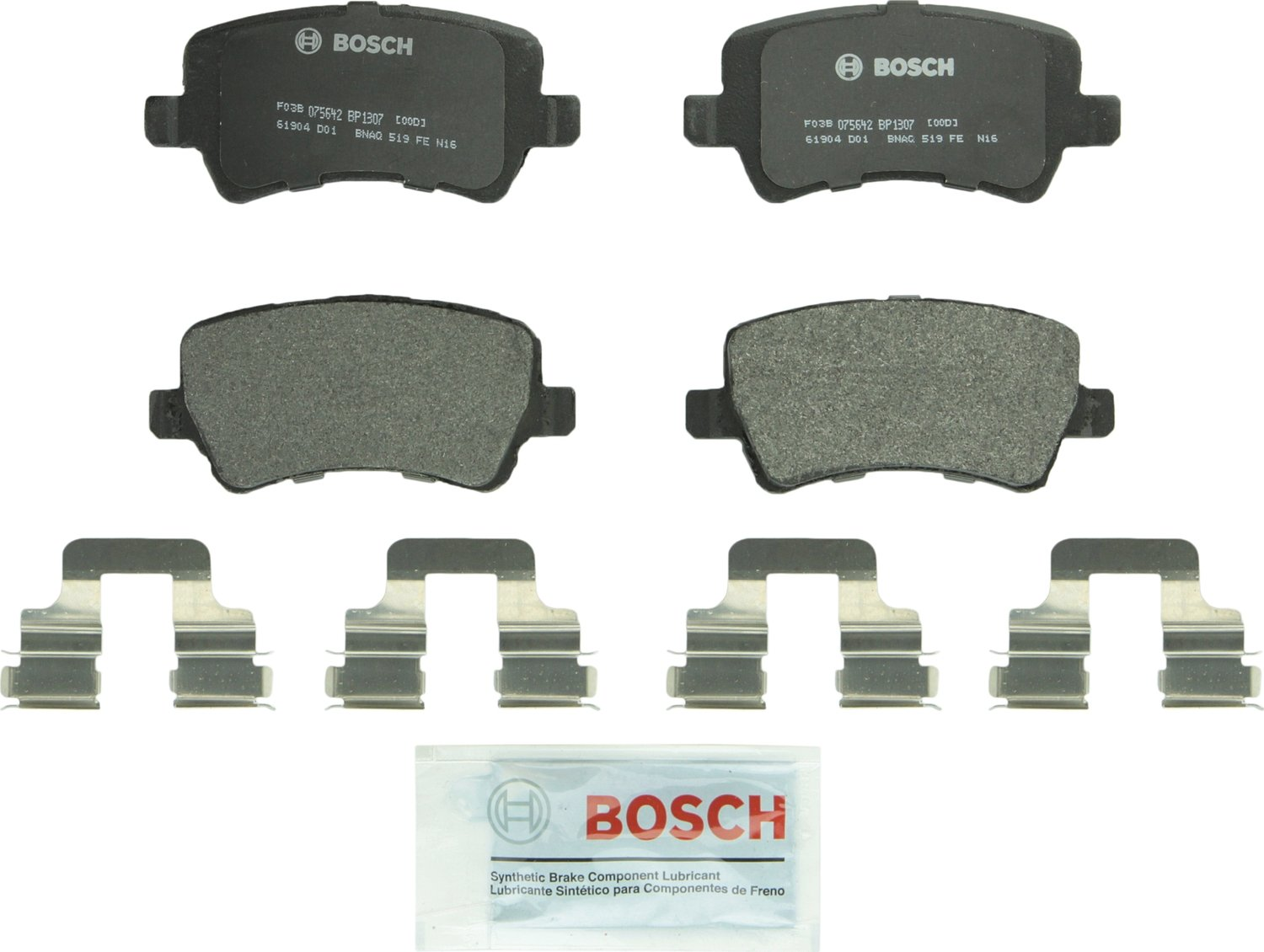 Bosch BP1307 QuietCast Premium Semi-Metallic Disc Brake Pad Set For: Land Rover Range Rover Evoque; Volvo S60, S60 Cross Country, S80, V60, V60 Cross Country, V70, XC60, XC70, Rear