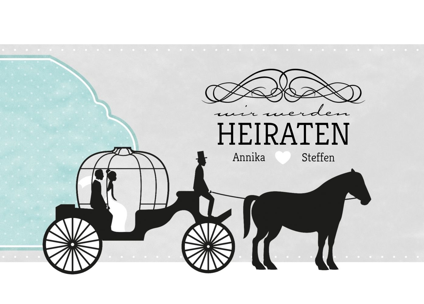 Save-the-Date Kutsche, Kutsche, Kutsche, 30 Karten, HellRosa B07B6M3KHB Postkarten Neuer Eintrag e4121f