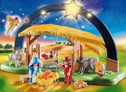 Coloré de Noël Crèche Pour Jouer Holzkrippe cuisine Crèche