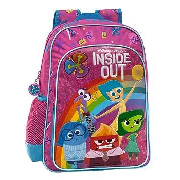 Disney Inside out Mochila Escolar Adaptable a Carro, Color Rosa, 19.2 litros: Amazon.es: Equipaje