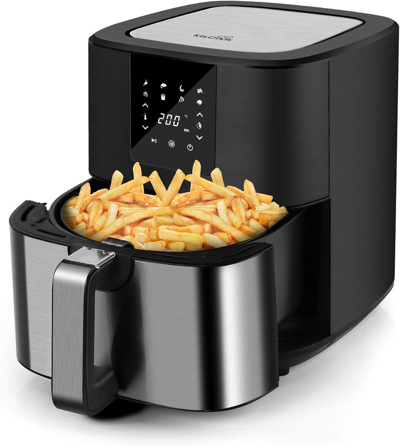 KitCook Air Fryer, 6.8 QT Air Fryer Oven with 8 Preset Menu,Nonstick Basket