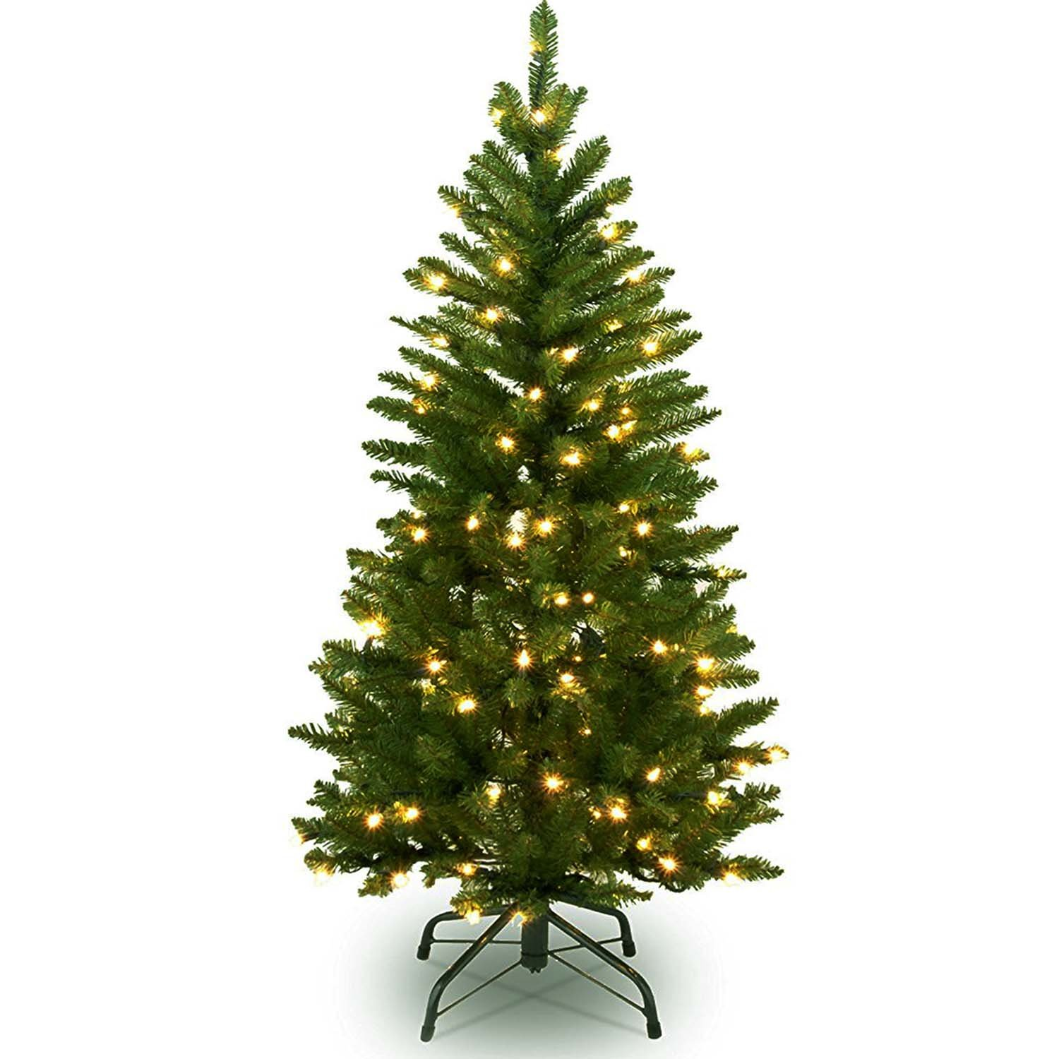 9 FT Christmas Tree W/ 1000 LED Lights , 9 Foot Xmas Tree W/ Hinged Construction for Easy Assembly, 9' Chirstmas Trees W/ 3774 Branch Tips, Includes Metal Tree Stand