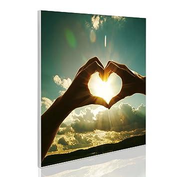 banjado Magnetpinnwand weiß Memoboard Magnettafel mit Motiv Herzen Auf Weiß