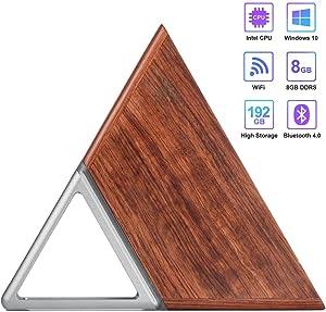 Mini PC, Portable Windows 10 Pro Micro Desktop Computer, Intel Apollo Lake Celeron N3450 (up to 2.2GHz) Quad-core CPU, 8G Ram, 64G eMMC, 128G SSD, WiFi, BT 4.0, 4K HDMI Output, Gigabit Ethernet Port