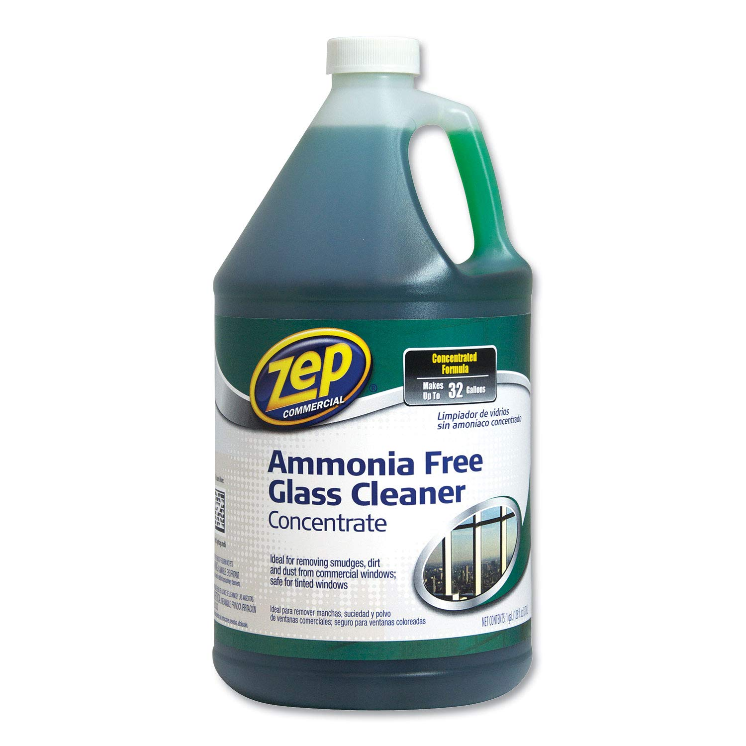 PACK OF 4 -Zep Commercial Ammonia-Free Glass Cleaner Concentrate, 1 gal