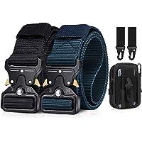 BESTKEE taktiskt bälte för män, 3,81 cm (1,5 tum), kraftigt bälte, nylon, snabbstängning med metallspänne, present, med…