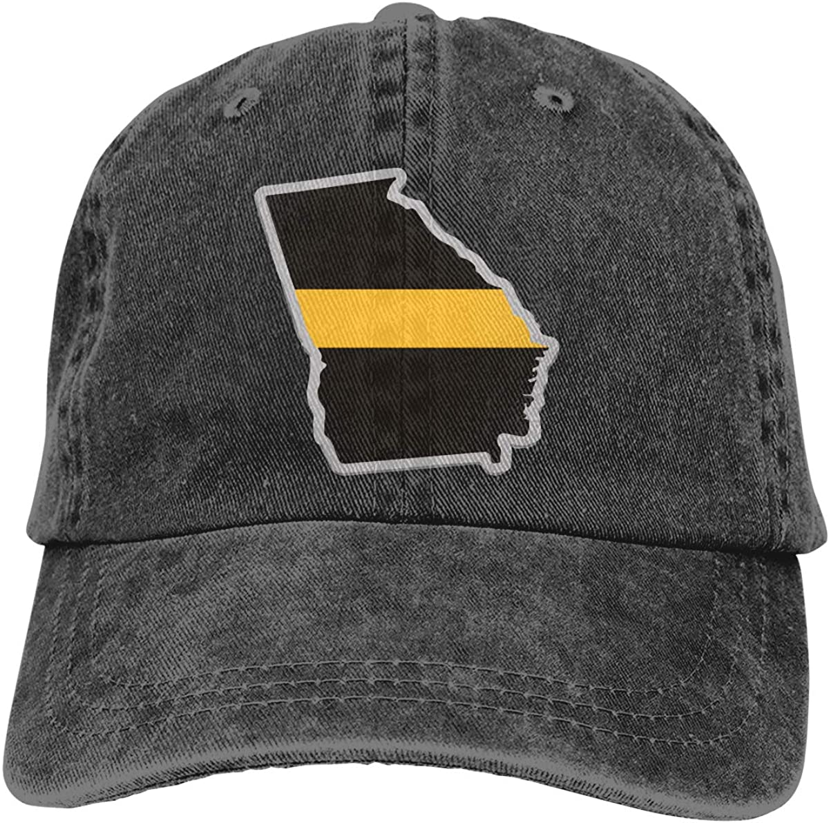 Georgia State Thin Gold Unisex Trendy Cowboy Hat Casquette Adjustable Baseball Cap