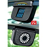 Harjas Aa02 Solar Powered Ventilation Fan Amazon In Car