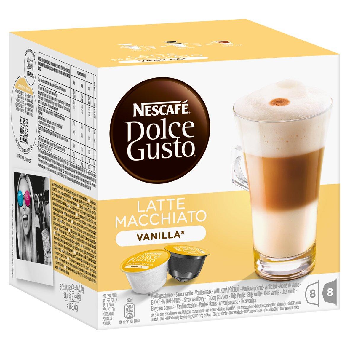 Nescafé Dolce Gusto Latte Macchiato Vanilla, Paquete de 6, 6 ...
