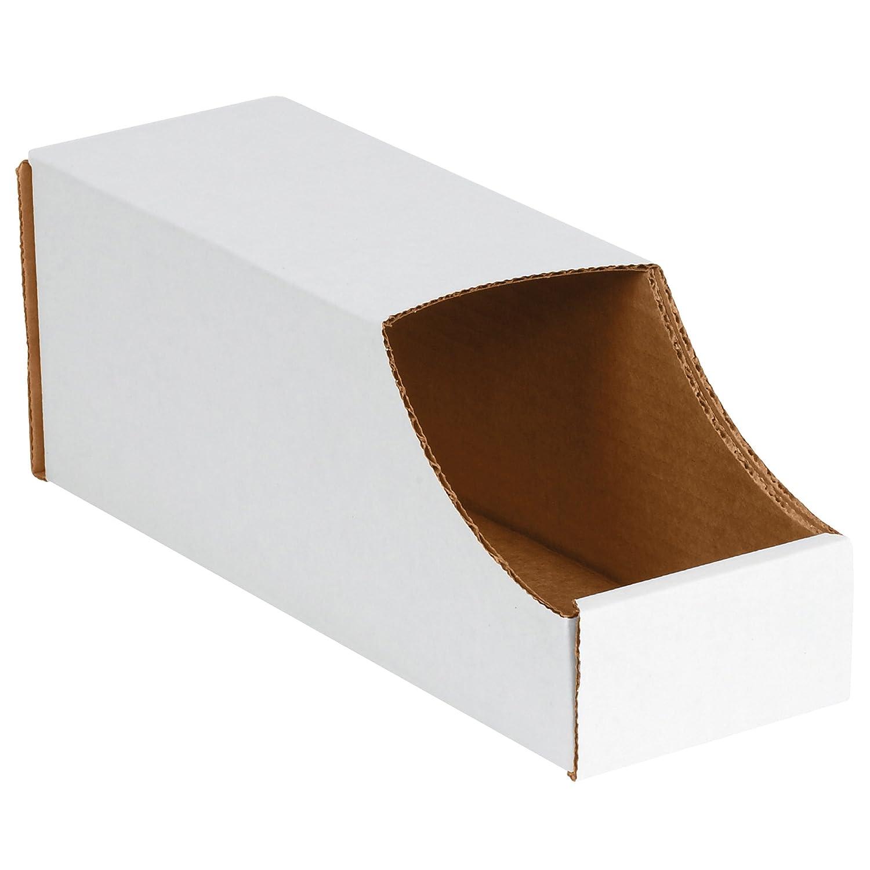 Aviditi Stackable Corrugated Cardboard Storage Bins, 4