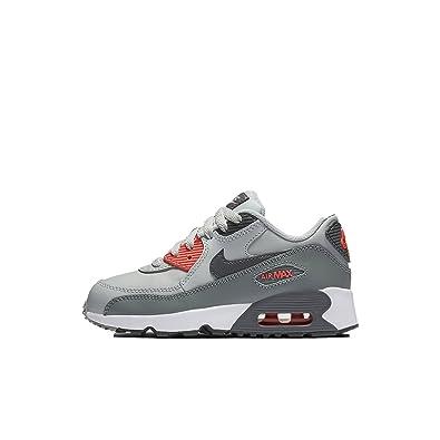 super popular 793d8 bdb49 Nike Air Max 90 Leather Little Kids Shoes (Pure Platinum Cool Grey Lava