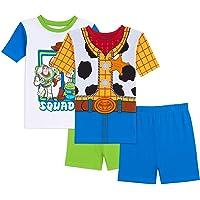 Toy Story Pijama de algodón de 4 Piezas de Disney para niños Juego de Pijama para Niños