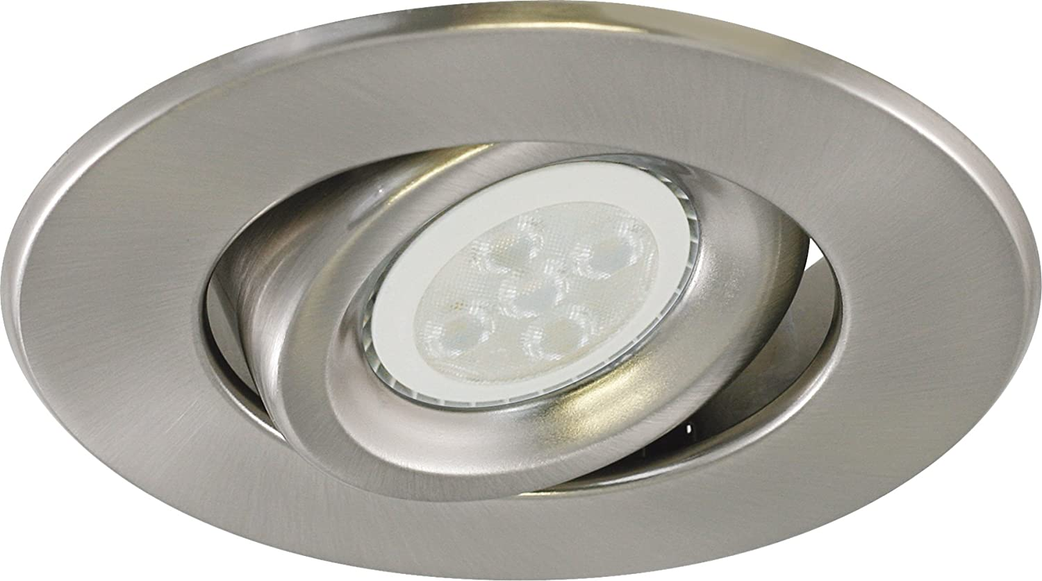 Liteline RC40118R3-LED-EW-BN All-in-One 4-inch LED Recessed Combo with New Construction Housing 6W LED PAR16 lamp Brushed Nickel Gimbal Trim