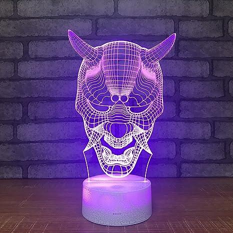 Siete fuentes coloridas de la máscara de la luz de la noche ...
