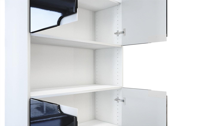 Bureau tiroirs en mdf blanc mat et pieds en chêne higgins