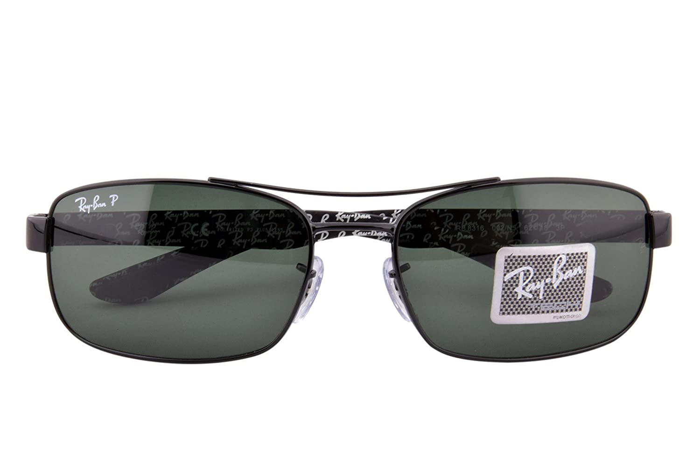 f89c00fcd32 Amazon.com  Ray-Ban METAL UNISEX SUNGLASS - BLACK Frame CRYSTAL POLAR GREEN  Lenses 62mm Polarized  Ray-Ban  Clothing