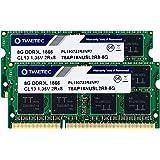 Timetec Hynix IC 16GB KIT (2x8GB) DDR3L 1866MHz PC3-14900 Unbuffered Non-ECC 1.35V CL13 2Rx8 Dual Rank 204 Pin SODIMM…