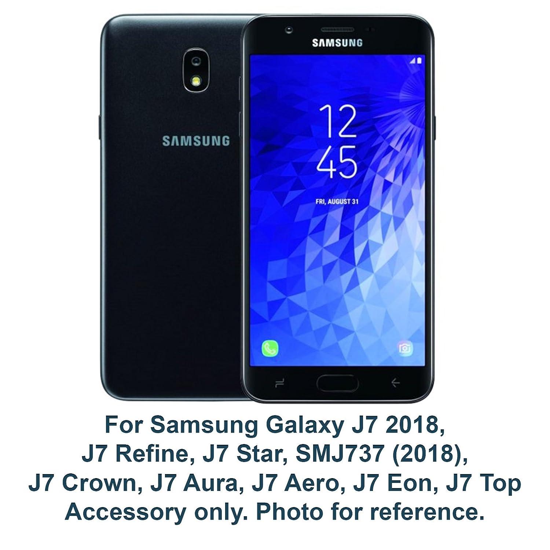 For Samsung Galaxy J7 2018, J7 Refine, J7 Star, J7 Crown, J7 Aura, J7 Aero, J7 Eon, J7 Top (SMJ737) Cute Liquid Glitter Flow Sparkle Butterfly ...