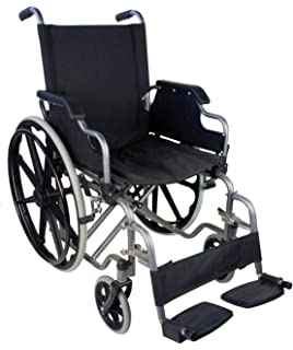 Mobiclinic Silla de Ruedas Plegable | autopropulsable | reposabrazos abatibles | Color Negro | Ancho 43