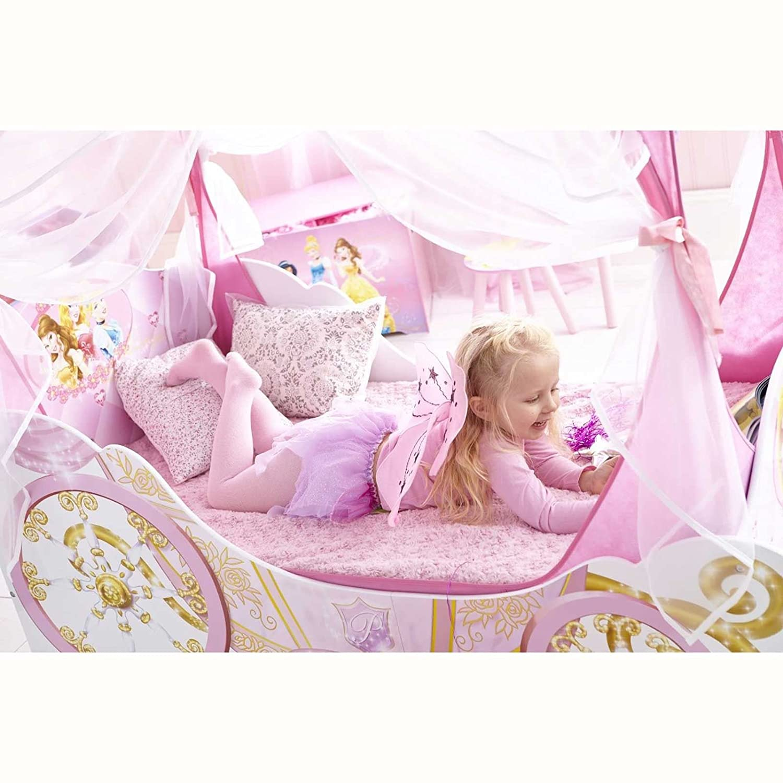 Voll Gefederte Matratze Disney Princess Carriage Kleinkind Bett