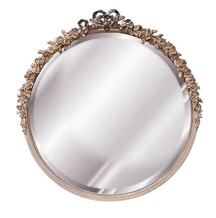Amazon Com Hickory Manor House 6031cgs Round Rose Mirror Creame