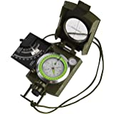 GWHOLE Compass Hiking Military Sighting Compass with Clinometer, English User Guide Included