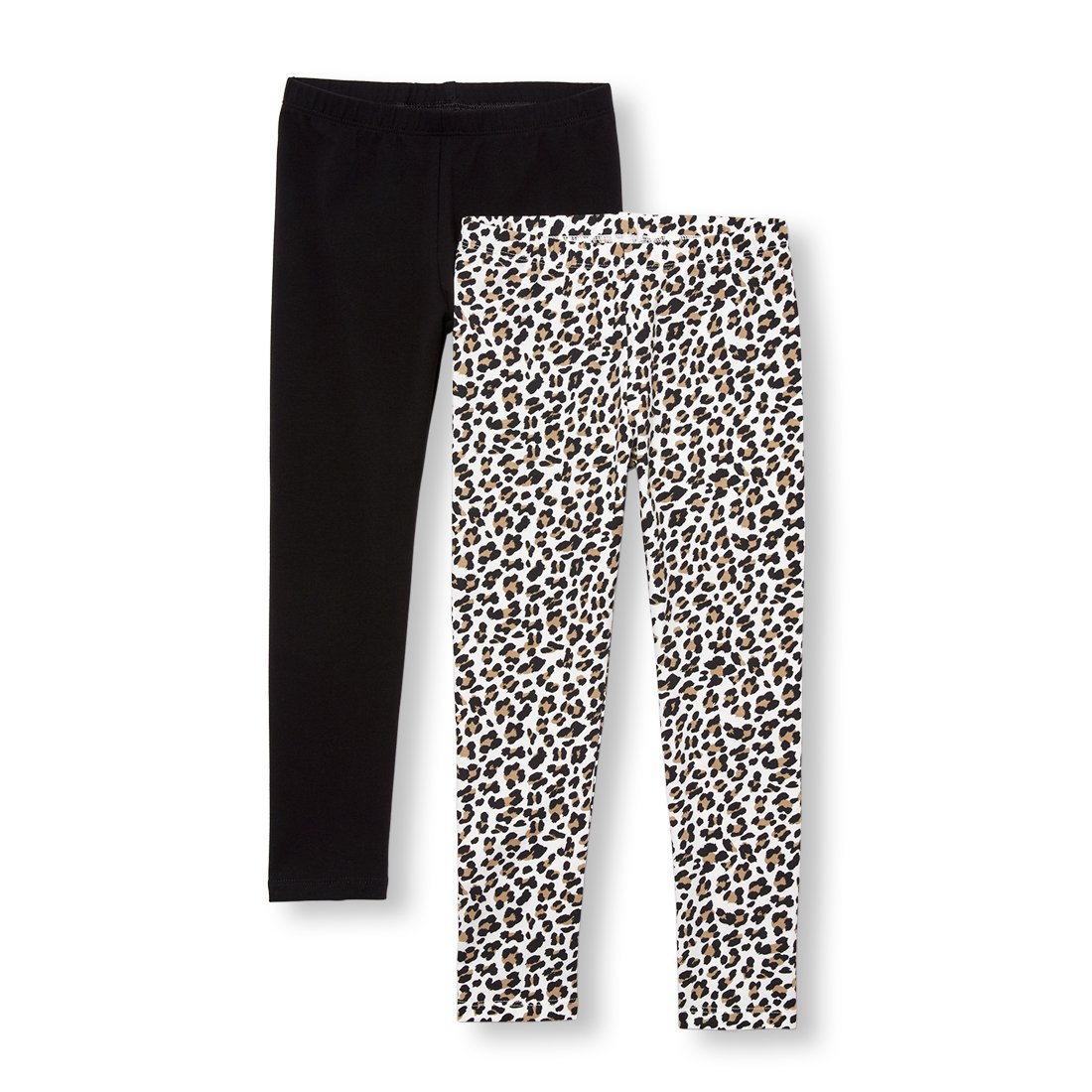 The Children's Place Big Girls' 2 Pack Legging, Tumbleweed, L (10/12) by The Children's Place (Image #1)