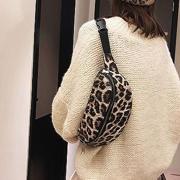 Amazon.com | Kissing Fire women chest bag Neutral Leopard ...