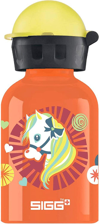 SIGG Shetty Cantimplora infantil (0.3 L), botella para niños sin sustancias nocivas y con tapa hermética, cantimplora ligera de aluminio