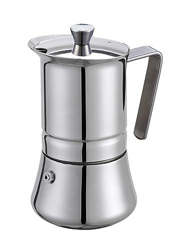 GAT Italy Pratika - Cafetera de espresso (acero inoxidable, 10 x 20 x 17 cm)