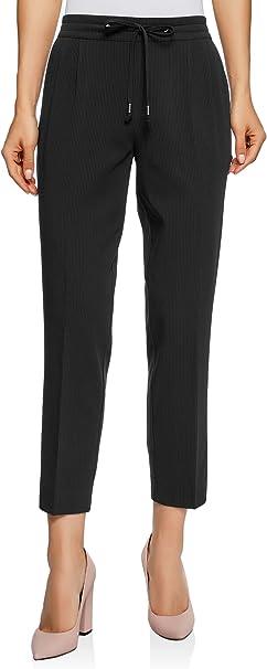 oodji Ultra Donna Pantaloni con Elastico in Vita e Tasche Decorative