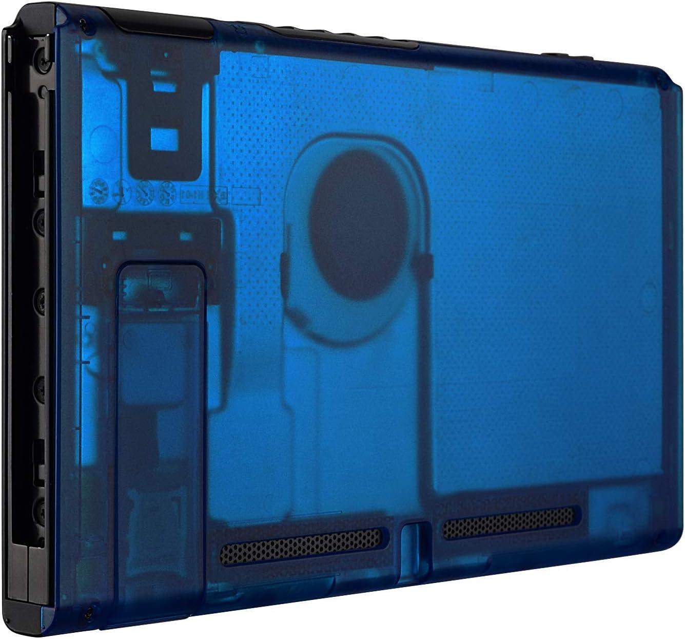 eXtremeRate Carcasa Transparente Azul para Nintendo Switch Funda Trasera de la Consola NS Shell de Bricolaje Cubierta de reemplazo con Soporte para Nintendo Switch No Incluye la Carcasa de Joy-con: Amazon.es: Electrónica
