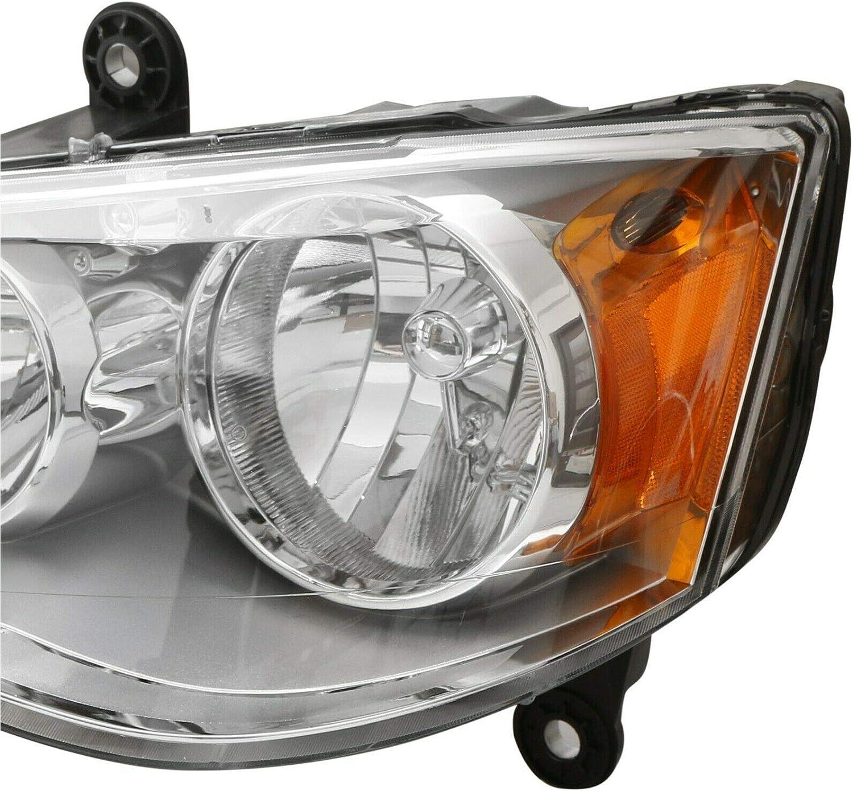 JSBOYAT For 2002-2009 Chevy Chevrolet Trailblazer Headlight Assembly Amber Reflector Headlamp Pair Driver and Passenger Side