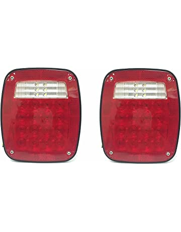 MaxxHaul 80685 2 Pack Universal Square 12V Combination 38 LED Signal Tail Light - for Truck