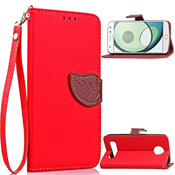 Motorola Moto Z Play Funda, adorehouse Flip Stand Case ...