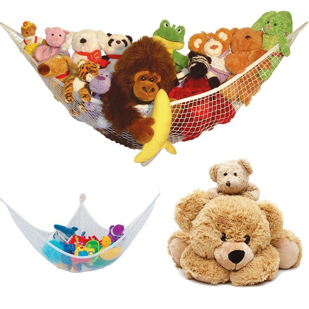 Toy Hammock Storage Hammock Toy Organizer,Ultralight Large Storage Net for Teddy Bears Toys Balls Linen Storage and Gear 1.411M