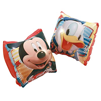 Mickey Mouse Inflatable Arm Floats Featuring Mickey Mouse and Donald Duck: Toys & Games