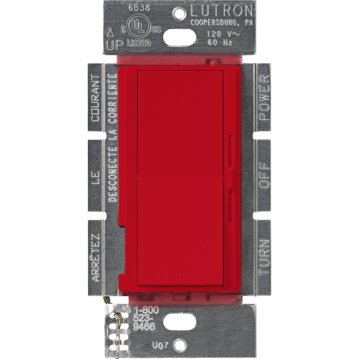 LUTRON(ルートロン) ディーバ 3段階変速ファンコントローラ 1.5A 単極3投 DVSCFSQ-F-HT 1 B000MAUUYE Hot Hot