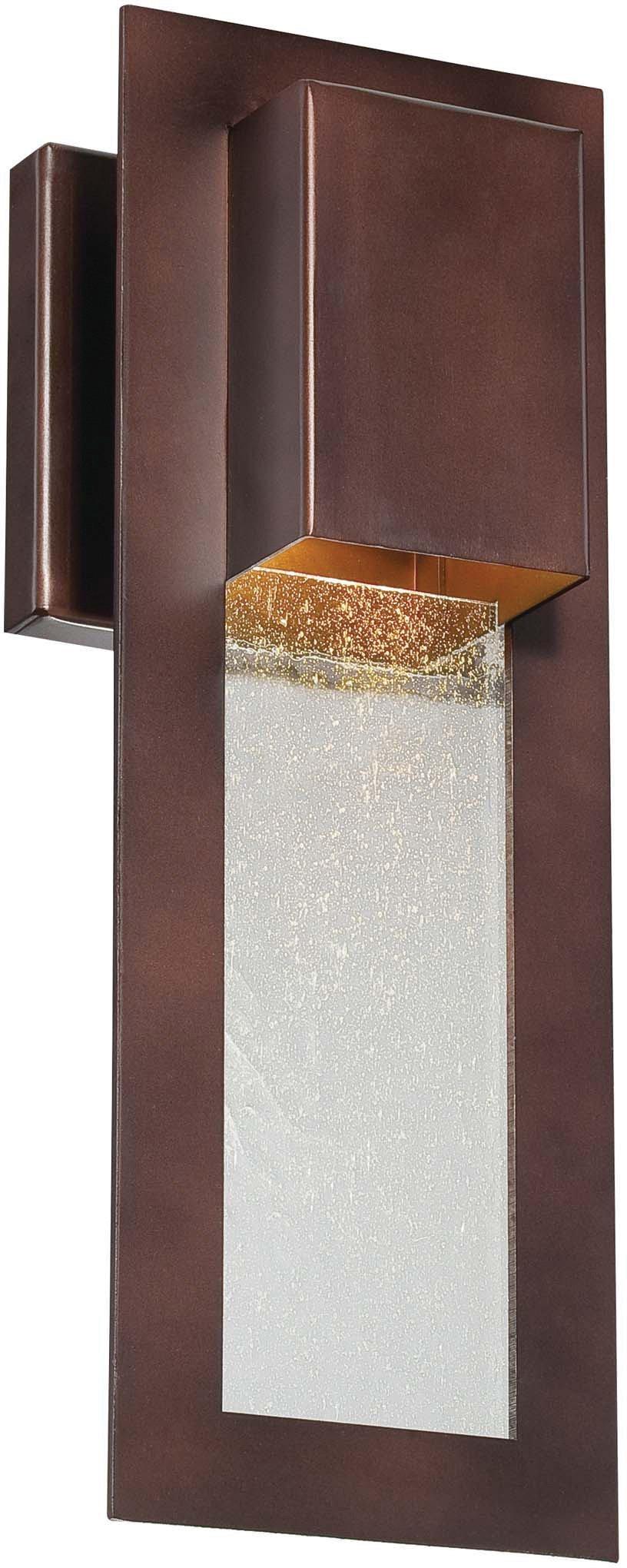 Minka Lavery Outdoor Wall Light 72381-246 Westgate Dark Sky Exterior Wall Lantern, 35w Halogen, Bronze