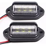 PAISION 24v Dc Truck Trailer Rv LED Number License Plate Light Courtesy Door Lamp Pack of 2