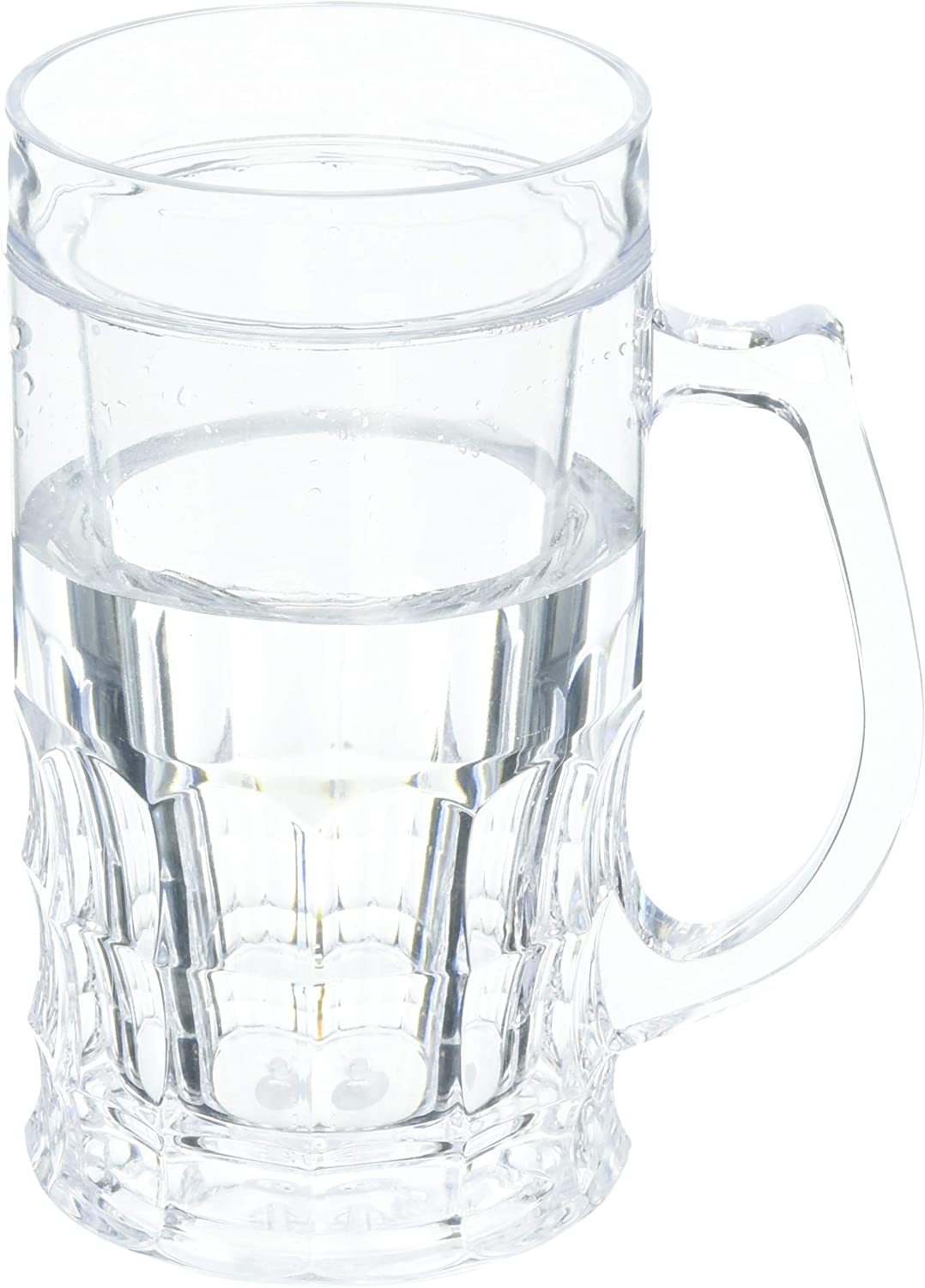 Wyndham House KTBRGLS 16.9oz Beer Mug with Freezing Gel, set of 1, Clear