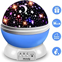 Moredig Star Projector, 360°Rotation Star Night Light Lamps for Kids, 8 Colorful Modes with USB Cable - Blue