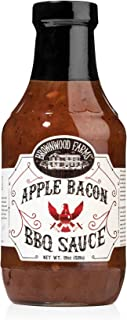 product image for Apple Bacon BBQ Sauce - Brownwood Farms - 20 oz, single pack - Sweet Apple, Hickory Smoke and Bold Bacon Flavors - Gluten Free Barbecue Spread for Meats, Veggies & Other Foods