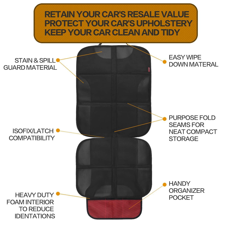 dos Protector del Asiento de Coche EC Technology Organizador de Asiento silla de coche para Soporte Tablet-Bolsilo funda de asiento de coche universal
