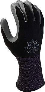 6 Pack Showa/Atlas Glove 370BBK (Black X-Large)