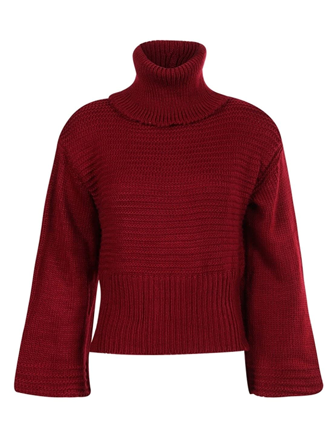 hodoyi Womens Turtleneck Long Sleeve Cable Knit Pullover Sweater at Amazon  Women s Clothing store  489bff933