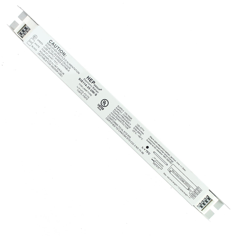 HEP SIS114-35-UNI-S Electronic Fluorescent Ballast, 120/277V, 1 Lamp, T5, 35W HEP Ballasts SIS114-35 UNI S